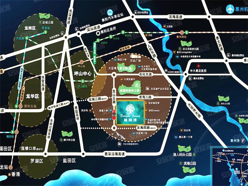 林間漫交通規劃圖