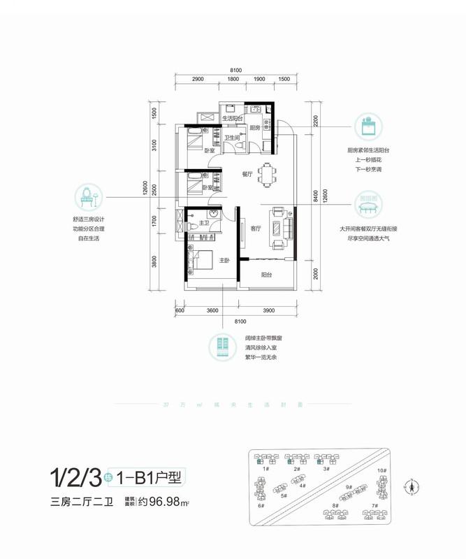 長通熙園1-2-3棟B1戶型96.98平米.jpg